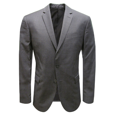 Versace Suit Silver Textured