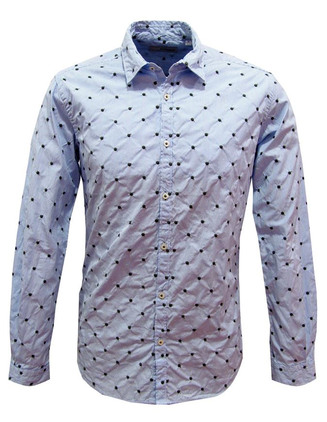 Picture of Poggianti Embroidered Shirt