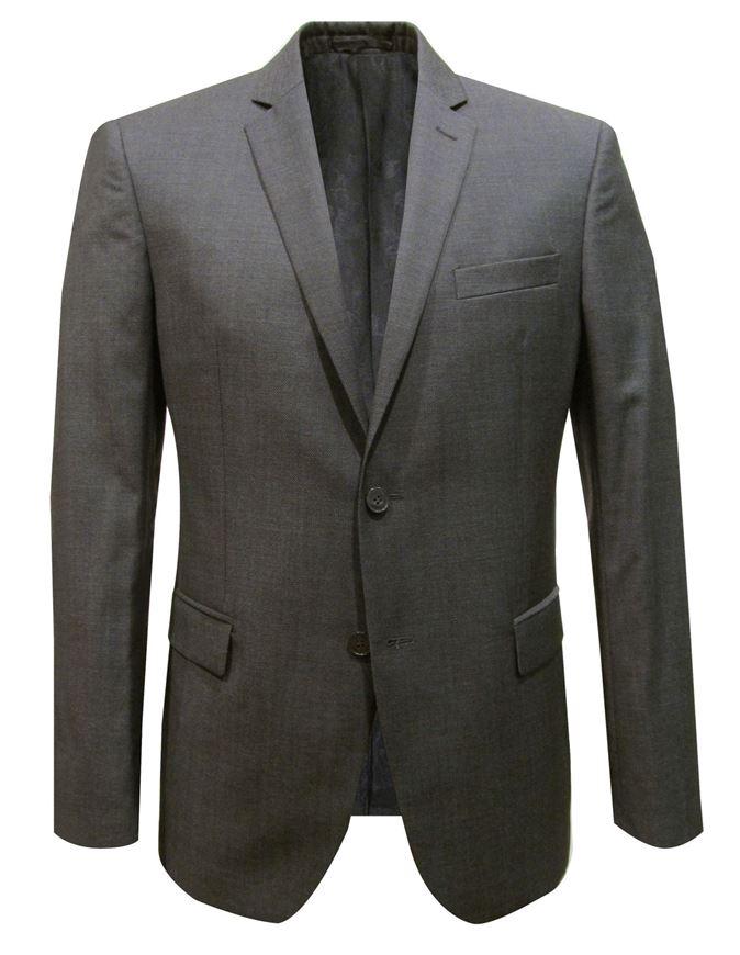 Picture of Versace Trend Textured Grey Suit