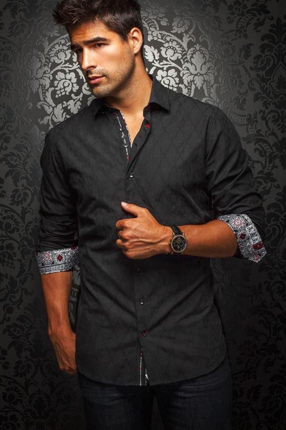 Picture of Au noir Black Check Shirt