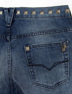 Picture of Versace Jeans Denim Pewter Stud Stretch Skinny Fit Jean