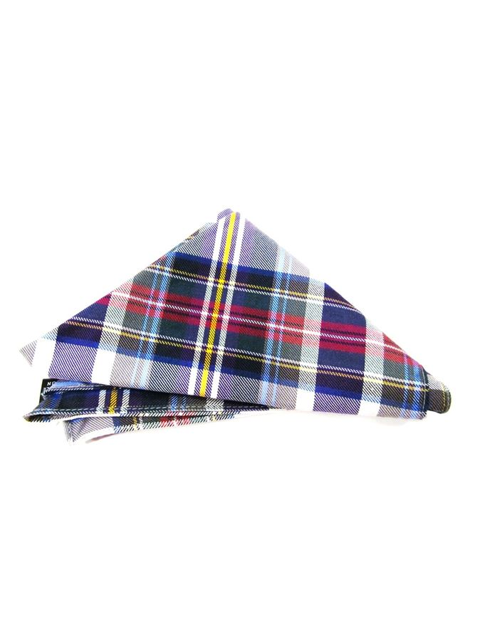 Picture of Hemley Purple & White Checkered Pocket Square