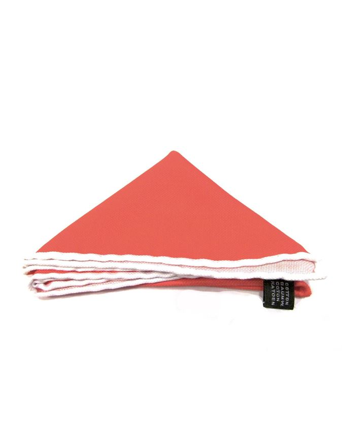 Picture of Hemley Orange Cotton Pocket Square
