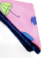 Picture of Hemley Pink Umbrella Print Pocket Square