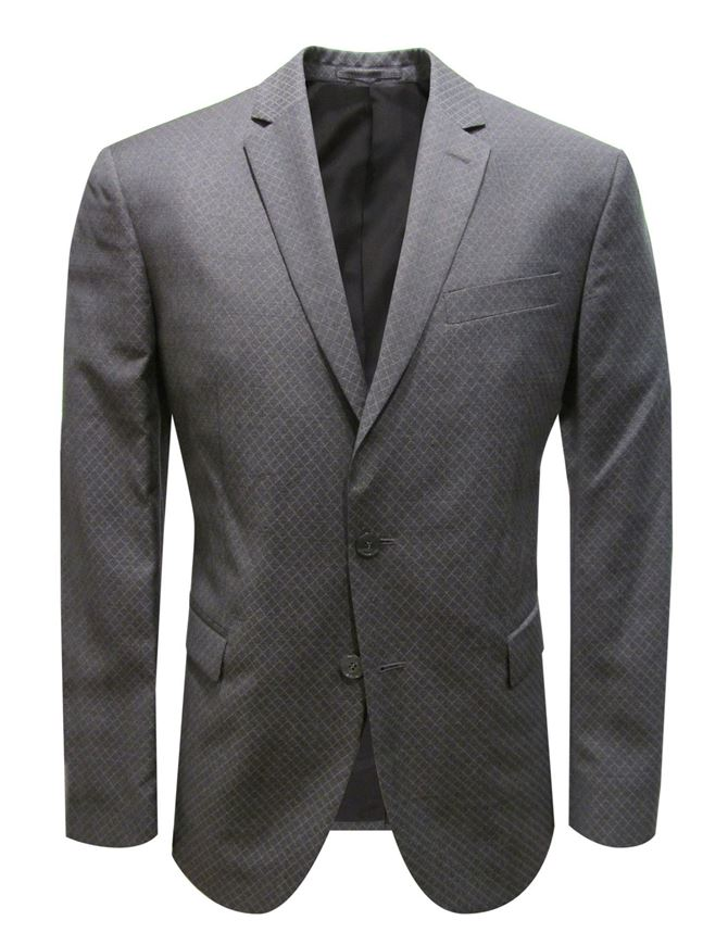 Picture of Versace Silver-Check Trend Fit Suit