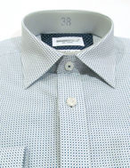 Picture of Brooksfield Teal Square Print Slim Shirt