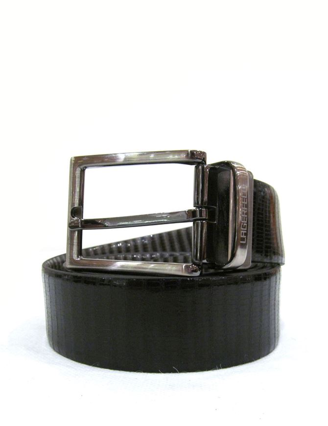 Picture of Lagerfeld Snake Print Reversible Belt