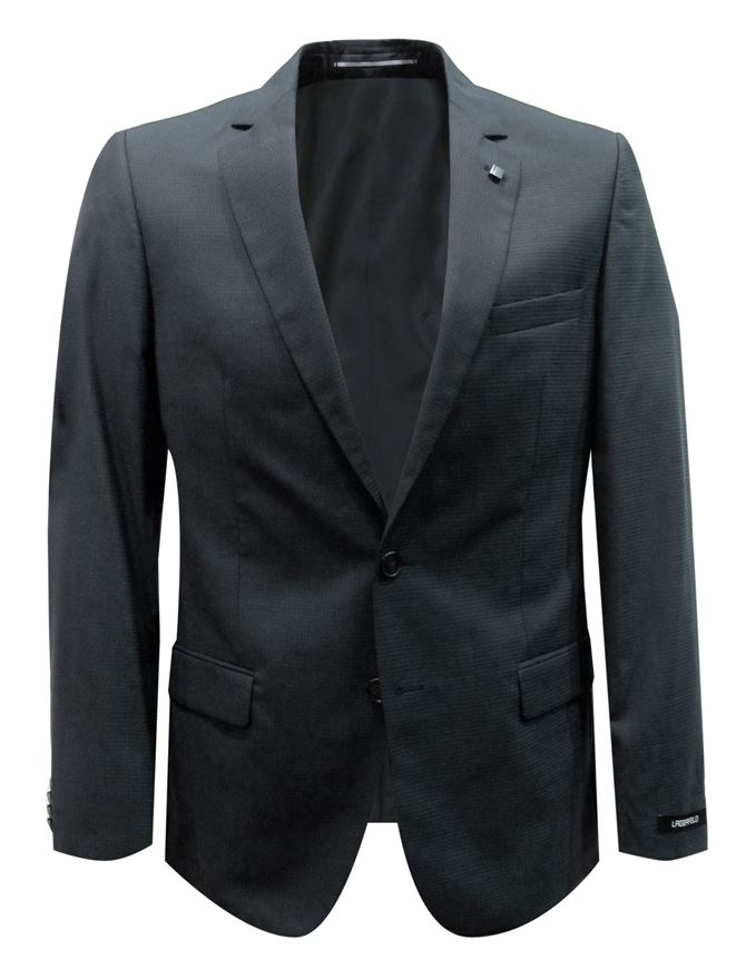 Picture of Lagerfeld Charcoal Neat Check Suit