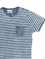 Picture of Pearly King Indigo Yankee Stripe Tshirt
