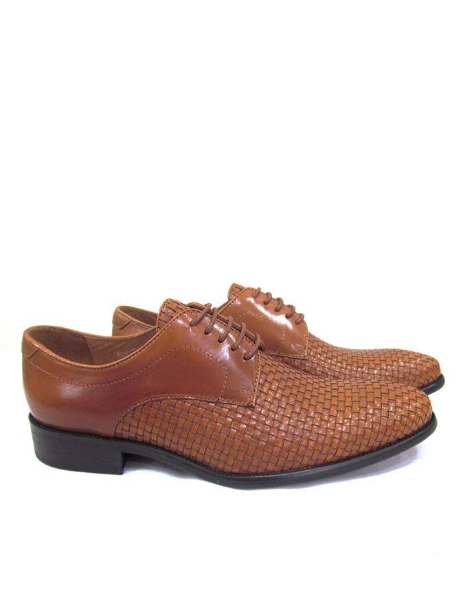 Picture of Cutler Plait Tan Laceup Shoes
