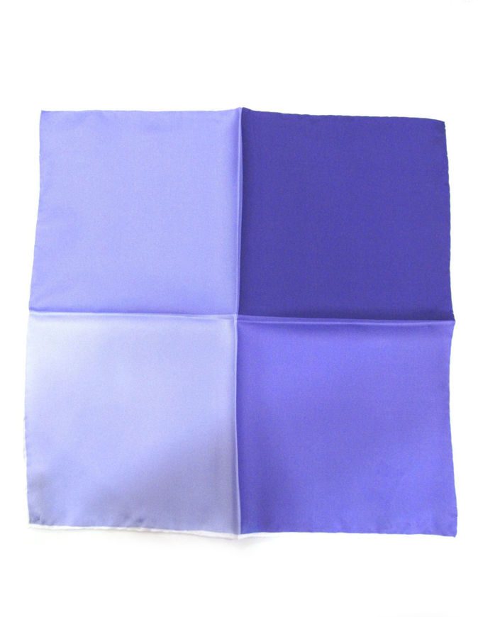Picture of Hemley Purple 4 Shades Silk Pocket Square