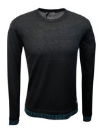 Picture of Versace Silk Cashmere Black Frame Detail Sweater