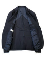 Picture of Versace Navy Waffle Weave Blazer