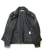 Picture of Versace Jeans Collared Lamb Leather Jacket