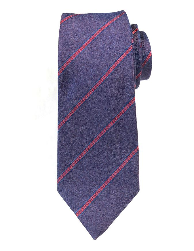 Picture of Versace Greek Stripe Mainline Silk Tie