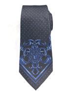 Picture of Versace Mainline Medusa Pattern Silk Tie