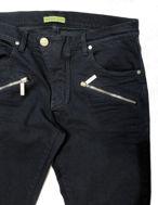 Picture of Versace Jeans Skinny Zip Details Navy Denims