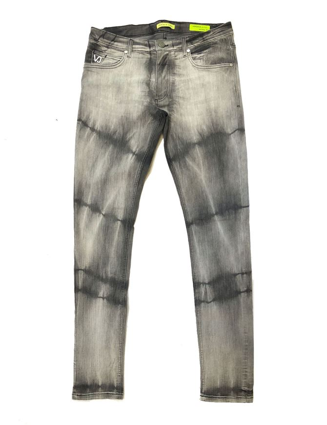 Picture of Versace Jeans Tie Dyed Grey Washed Skinny Jeans
