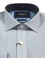 Picture of Brooksfield Teal Geo Print Luxe Shirt