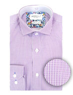 Picture of Brooksfield Purple Text Dobby Slim Shirt