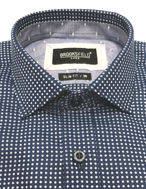 Picture of Brooksfield Shadow Dot Luxe Shirt - Navy