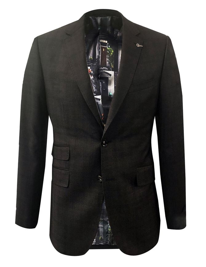 Picture of Ted Baker Brown Over Check Suit