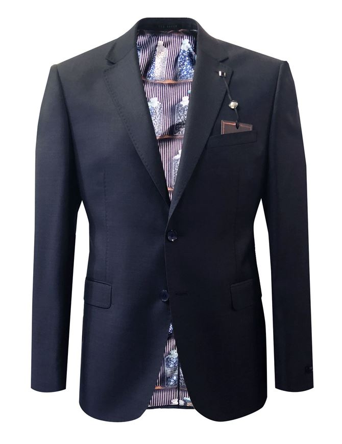 Picture of Ted Baker Navy Wool Suit