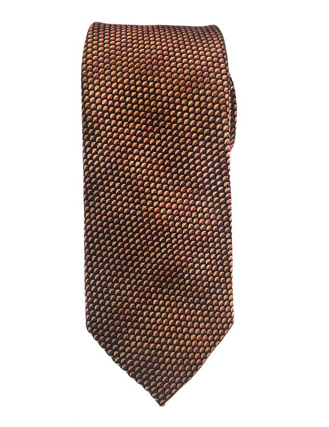 Picture of Ted Baker Orange Scale Pattern Silk Tie