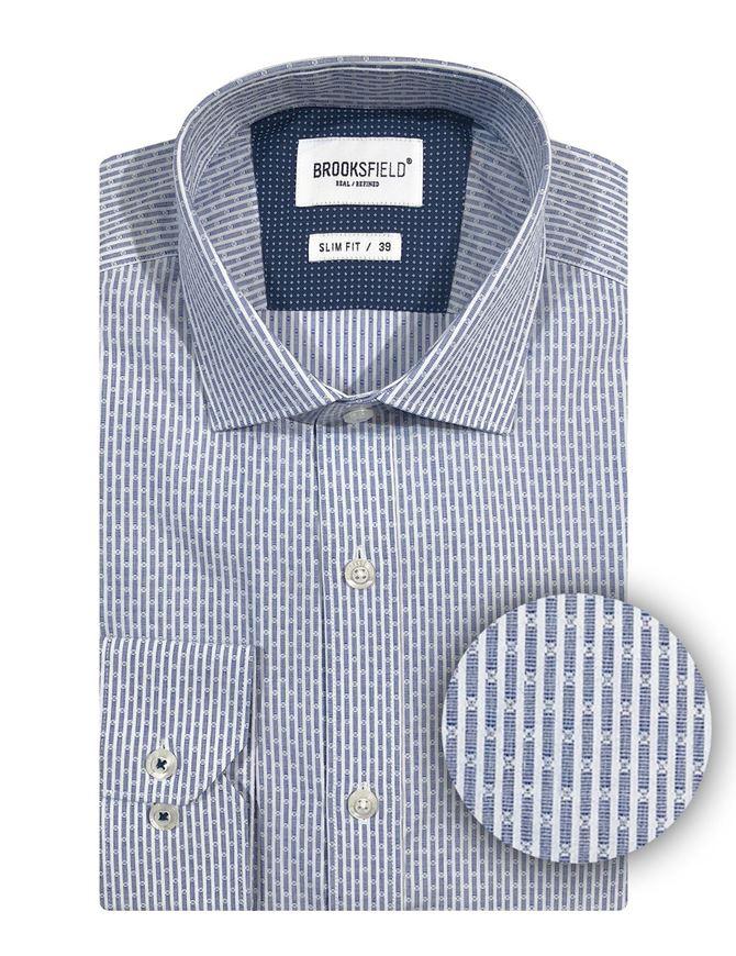Picture of Brooksfield Blue Line Stripe Slim Shirt