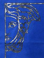 Picture of Versace Half-Medusa Glitter Print Tee