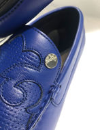 Picture of Versace Collection Broque Embossed Leather Moccasins