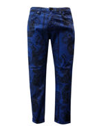 Picture of Versace Jeans Tiger Print Blue Jean