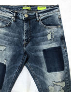 Picture of Versace Jeans Distressed Blue Washed Denims
