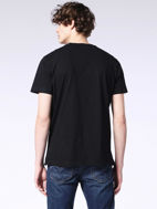 Picture of Diesel Black Mohawk Print T-shirt