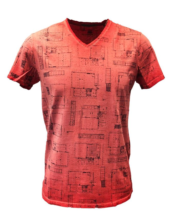 Picture of No Excess Brick Dye Blueprint Tshirt
