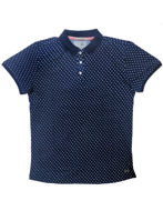 Picture of No Excess Indigo Knit Polo