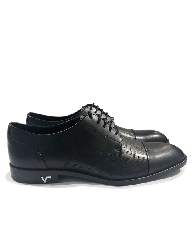 Picture of Versace Collection Greca Laceup Shoes