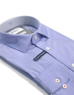 Picture of Brooksfield Blue Dots Stretch Shirt