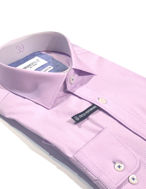 Picture of Brooksfield Lilac Dots Stretch Shirt