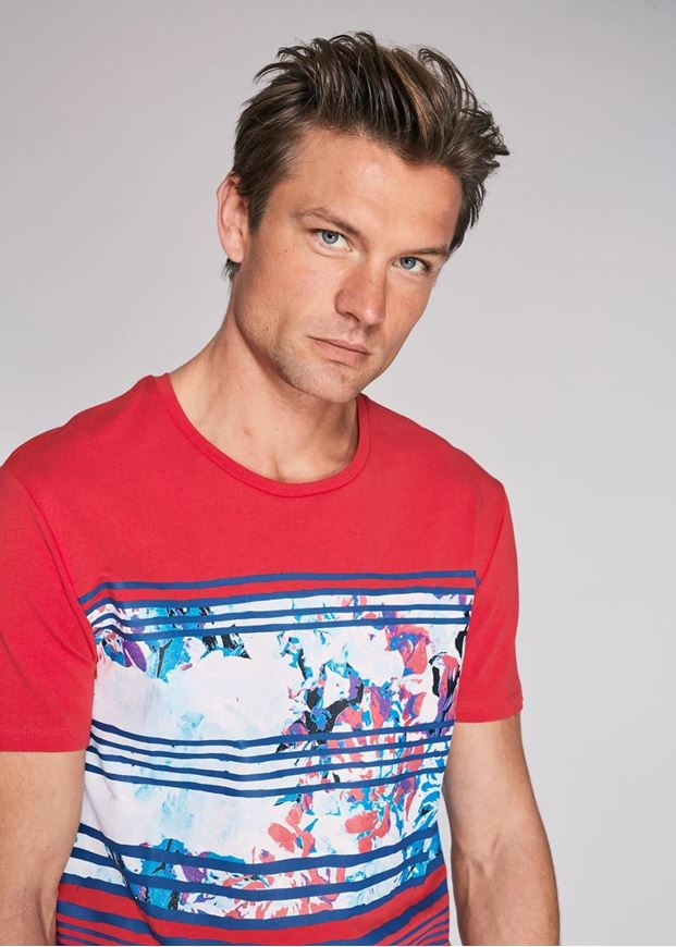 Picture of Gaudi Floral Print Red Round Tshirt