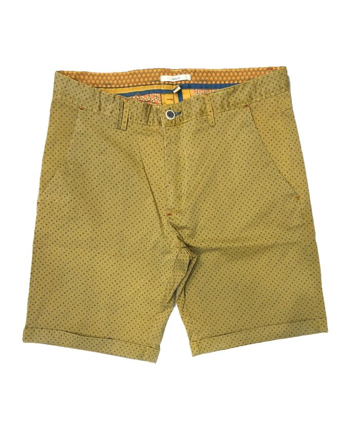 Picture of Gaudi Yellow Printed Stretch Shorts
