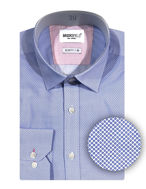 Picture of Brooksfield Blue Floral Dots Shirt