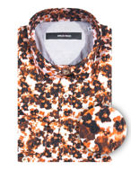 Picture of Osvaldo Trucchi Orange Floral Fashion Shirt