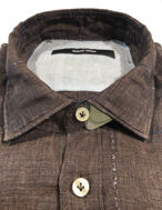 Picture of Osvaldo Trucchi Brown Check Weave Shirt