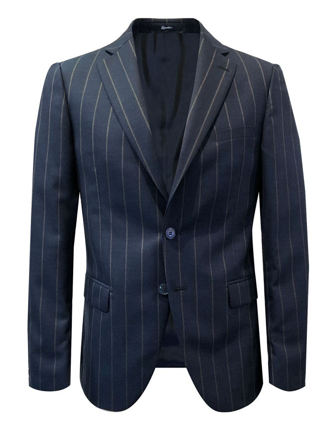 Picture of Reporter Navy Bold Pinstripe Suit