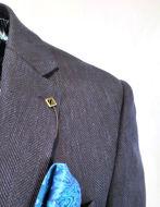 Picture of Ted Baker Navy Herringbone Jacket