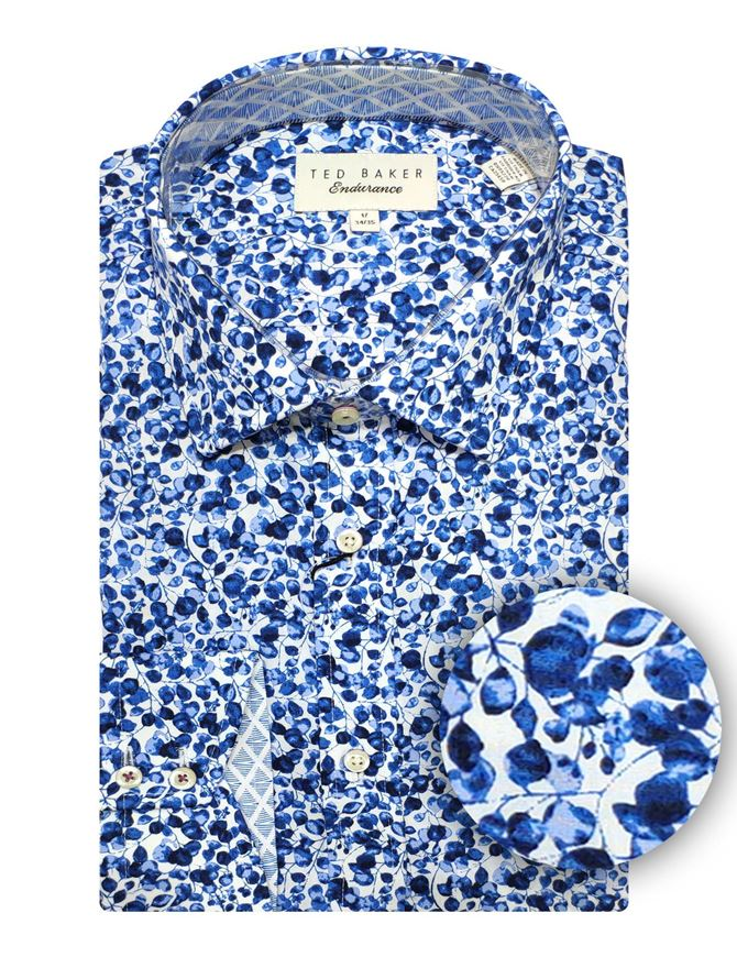 Picture of Ted Baker Blue Floral Print Shirt
