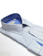 Picture of Ted Baker Blue Leaf Print Shirt