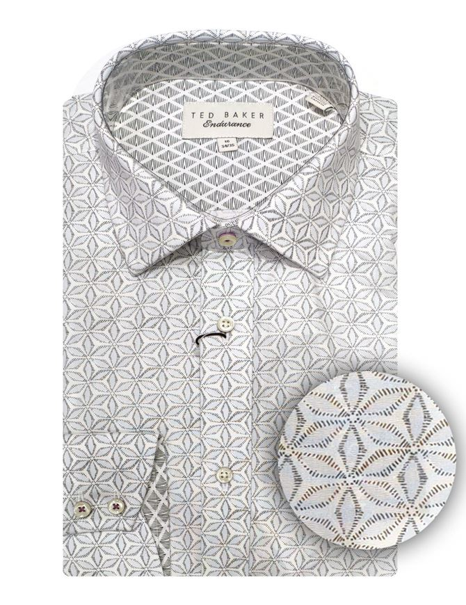 Picture of Ted Baker Grey Floral Print Shirt