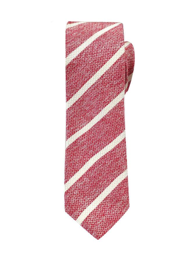 Picture of Hemley German Made Stripe Skinny Cotton Silk Tie